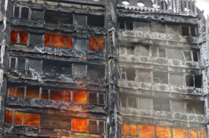 Grenfell Tower on fire June 2017